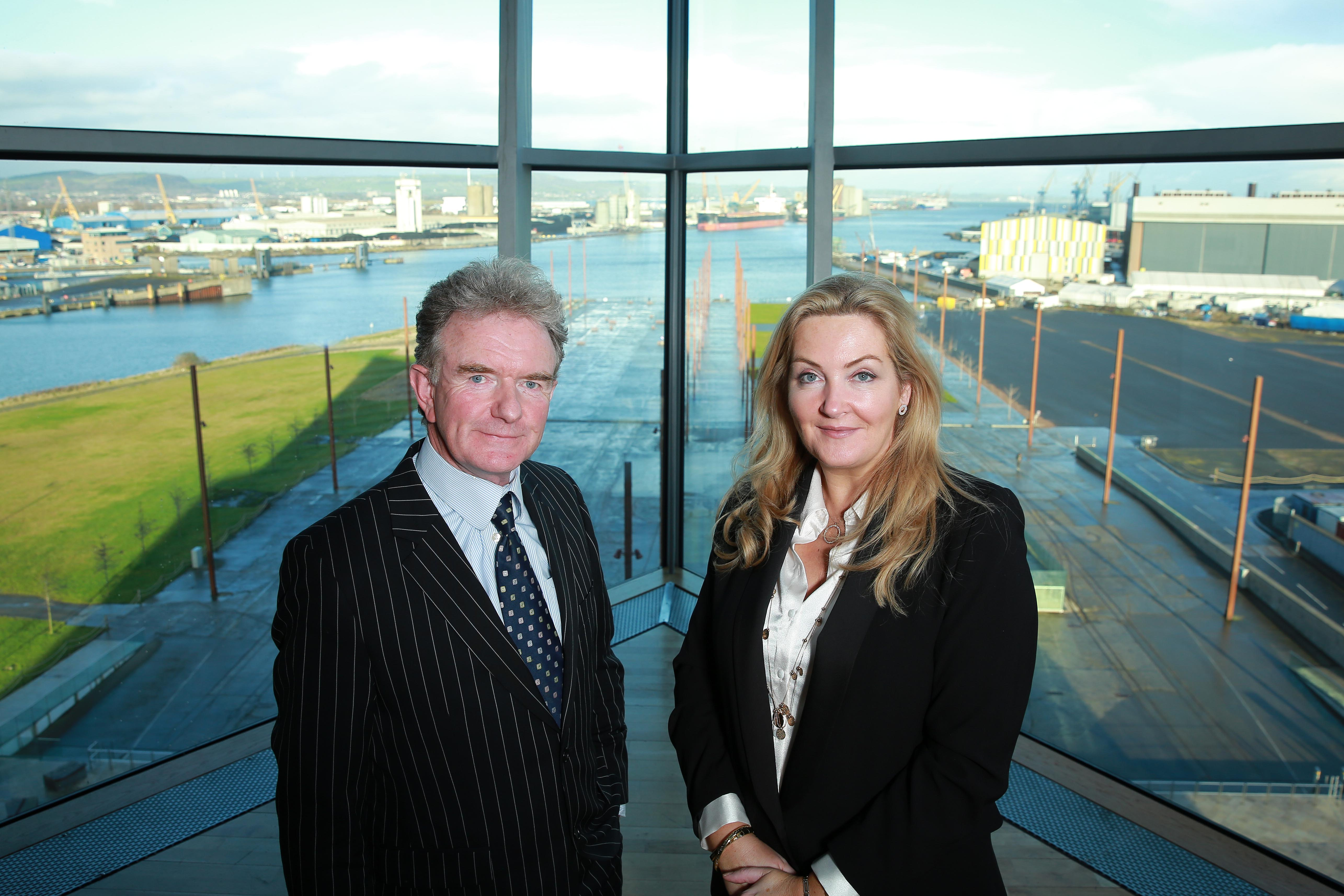 Picture of Gina McIntyre CEO of the SEUPB and the Greg O'Hare University College Dublin